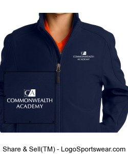 Youth Core Soft Shell Jacket Design Zoom